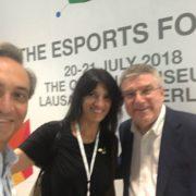 Amb Josep Escoda del CAR i Thomas Bach, president del COI