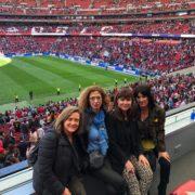 amb la Laura Alsina, Cris Savall i Àngels Torras al Wanda